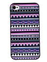 Roxo Tons coloridos Desenho Padrão Black Frame PC Hard Case para iPhone 4/4S