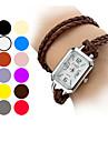 Longue PU bande Quartz analogique bracelet de montre des femmes (couleurs assorties)