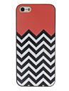 черно-белые волны цветной рисунок узором черной рамке PC жесткий футляр для iphone 5/5s