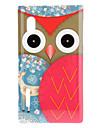 Staring Hibou de dessin animé avec le visage Brown et modèle Ailes Hard Case Deer pour LG E610 Optimus L5