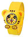 아이들의 호랑이 스타일 구부릴 수있는 플라스틱 밴드 철석 때림 손목 시계