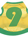 Собаки Футболка Джерси Желтый Одежда для собак Лето Буквы и цифры Спорт