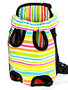 Colorful Stripe Pattern Front Backpack Bag Pet Carrier for Dogs (S-XL)