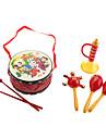 Традиционные китайские барабаны, погремушки, рога обновления для детей