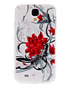 Red Flowers Pattern Hard Case for Samsung Galaxy S4 I9500