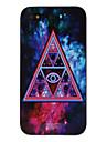 Triângulo em pintura abstrata decaled PC Hard Case para iPhone 4/4S