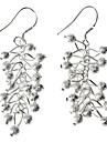 Grape Matte Beads 925 Silver Earring