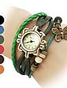 Женские Модные часы Наручные часы Часы-браслет Кварцевый Группа Черный Синий Красный Оранжевый Коричневый Зеленый марка