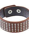 z&x® bracelet en cuir multi-rivet