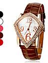 Women's Diamond Square Pattern PU Analog Quartz Wrist Watch (Assorted Colors)
