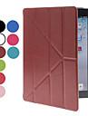 Dobrável PU Leather Case Full Body com Slot para cartão e Suporte para iPad 2/3/4 (opcional Cores)