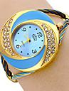 여자의 다이아몬드 다이얼 스테인리스 아날로그 석영 팔찌 시계 (멀티 컬러)