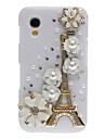 Bling Bling Благородный Эйфеля и цветочного дизайна Футляр с горный хрусталь для Samsung Galaxy Ace S5830