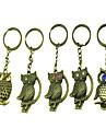 Style distinctif Owl métal en forme de porte-clés (couleur aléatoire)