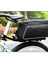 ROSWHEEL 폴리 에스테르 및 PU 소재 질감 시리즈 자전거 뒷좌석 가방