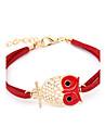 Double Row Owl Bracelet Lethear de forme (couleurs assorties)