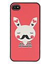 Mignon Blushing M. Bunny avec le modèle de moustache brillant le point dur givré PC pour l'iPhone 4/4S