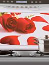 Стикер для кухни, 75x45см, красные розы, защита от воды и масла