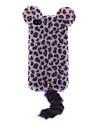 3D Reunindo Leopardo gato com cauda Projetado TPU Soft Case para iPhone 4/4S