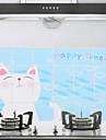 90x60cm мультфильм Cat Pattern маслостойкой Водонепроницаемый Стикер стены кухни