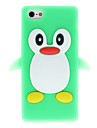 3D Green Penguin Silicone Soft Case for iPhone 5/5S