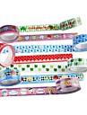cinta adhesiva de lujo (4 piezas color al azar)