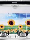 75x45cm подсолнечника шаблона Нефть-Proof Водонепроницаемый Горячий-Proof Кухня стикер стены