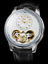 Men's Auto-Mechanical Fashion Black Leather Band Wrist Watch (Assorted Colors) Cool Watch Unique Watch