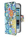 삼성 갤럭시 S3 미니 I8190를위한 자석 스냅과 카드 구멍을 가진 아름다운 꽃과 원형 패턴 PU 가죽 케이스