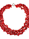 rouge collier de corail de pierre naturelle
