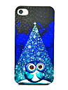 Owl in Spotlight Pattern Back Case for iPhone 4/4S