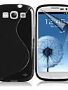 삼성 갤럭시 S3의 I9300 용의 모양, 텍스처, TPU 소프트 백 케이스 (모듬 색상)