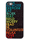 Colorful Words about Life Pattern Aluminum Hard Case for iPhone 5/5S