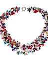 Colorful Gemstone Natural Stone Crystal Necklace