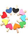 Heart Shaped цвет Крашеные деревянные клипы (10 шт)