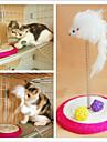 Коты Игрушки Дразнилки / Игровая мышь Эластичный Металл Белый