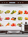 75x45cm Fruit & Vegetables Pattern Oil-Proof Water-Proof Hot-Proof Kitchen Wall Sticker