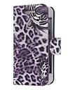 Tiger Twill PU Leather Case Full Body de modèle pour l'iPhone 5 (couleurs facultatives)