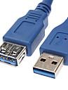 USB 3.0 мужчина к Женский удлинитель синий (0,3 M)