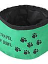 Кошка Собака Миски и бутылки с водой Животные Чаши и откорма Складной Красный Зеленый Голубой Текстиль