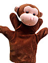 1PCS Hand Puppets Brown Monkey