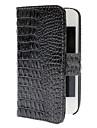 Alligator Padrão Capa de Couro PU com fecho magnético para iPhone 4/4S