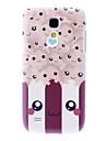 Matte Estilo Sorriso Rosto Padrão Durable Hard Case para Samsung Galaxy S4 Mini I9190