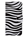 For iPhone 5 Case Card Holder / with Stand / Flip / Pattern Case Full Body Case Lines / Waves Hard PU Leather iPhone SE/5s/5