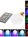 E26/E27 5W 1 LM RGB G60 Remote-Controlled LED Globe Bulbs AC 85-265 V