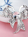Silver Plated Bowknot Brooch