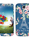 Flowers Eiffel Tower Pattern Body Sticker for Samsung Galaxy S4 I9502