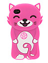 Sourire de chat 3D Etui en silicone pour iPhone 4/4S (couleurs assorties)