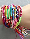 Colored woven bracelets