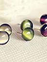 Texture de nuit parfois de trois-couleur opale mosaïque boucles d'oreilles géométrie circulaire sauvages E81